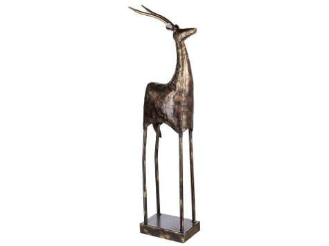 abstract antelope ornament | tall antelope bronze sculpture